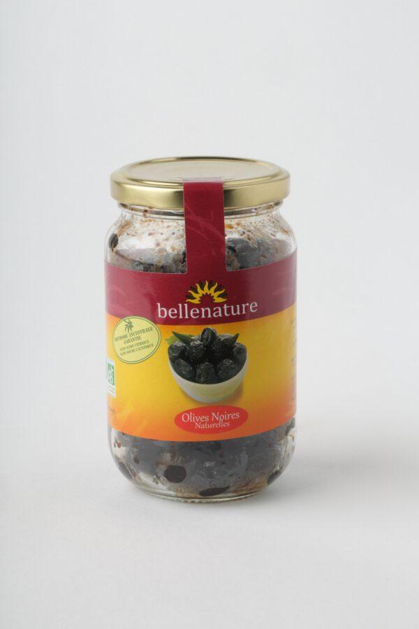 olives noires naturelle en bocal