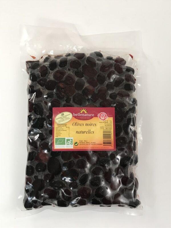 Olives noires naturelle en sac